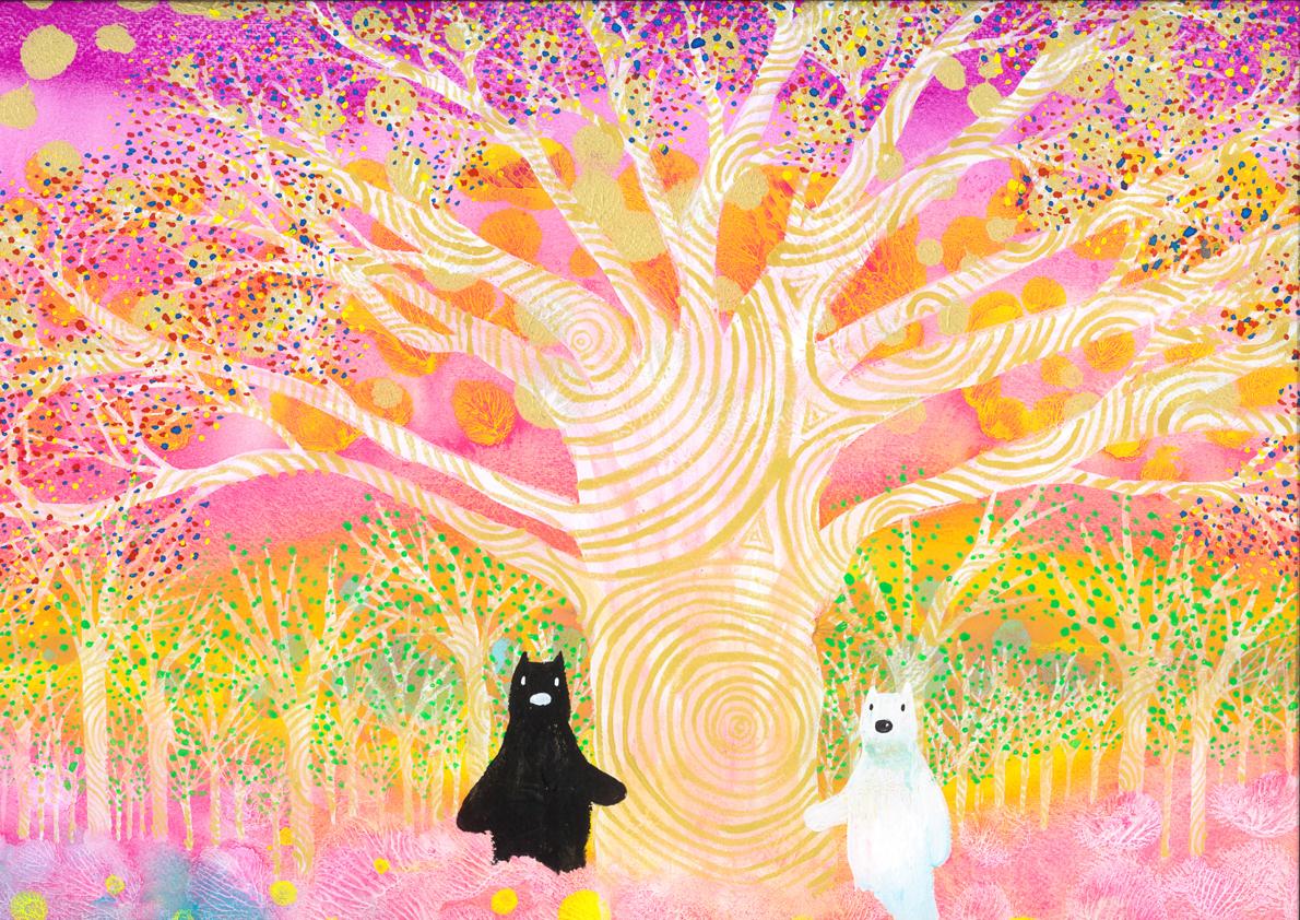 夢のなる木と白黒コットン